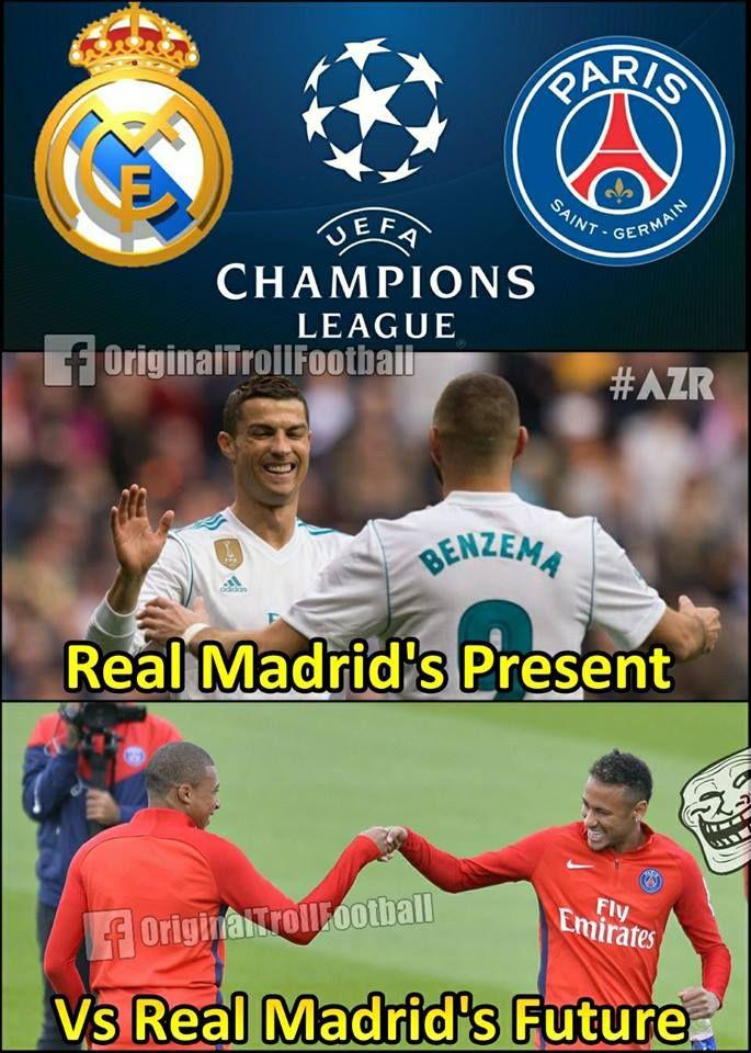Real Madrid Vs Psg Football Jokes Sports Memes Real Madrid Vs Psg