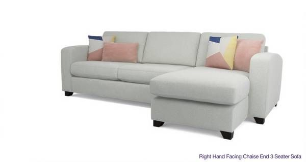 Right Hand Facing Chaise End 3 Seater