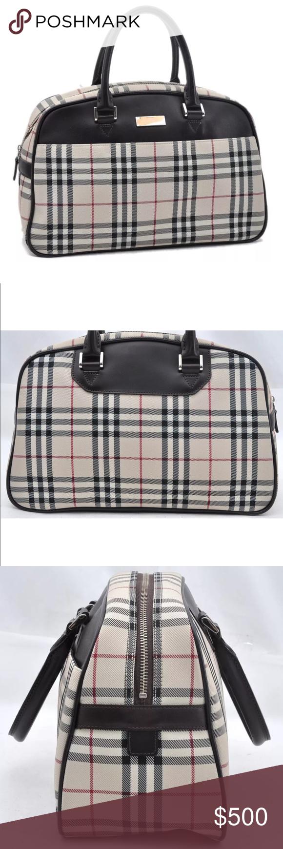816578adaf44 Authentic BURBERRY handbag Weekender bag brown Authentic BURBERRY hand bag  Weekender  bag Travel