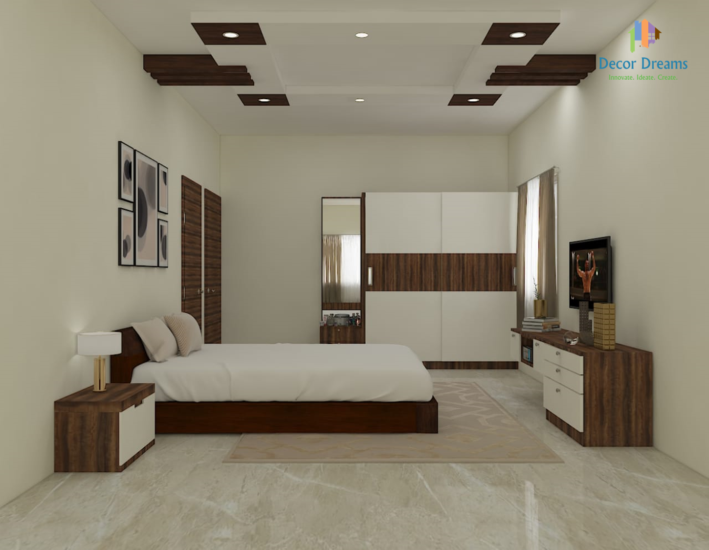 Bedroom | Bedroom false ceiling design, Ceiling design ...