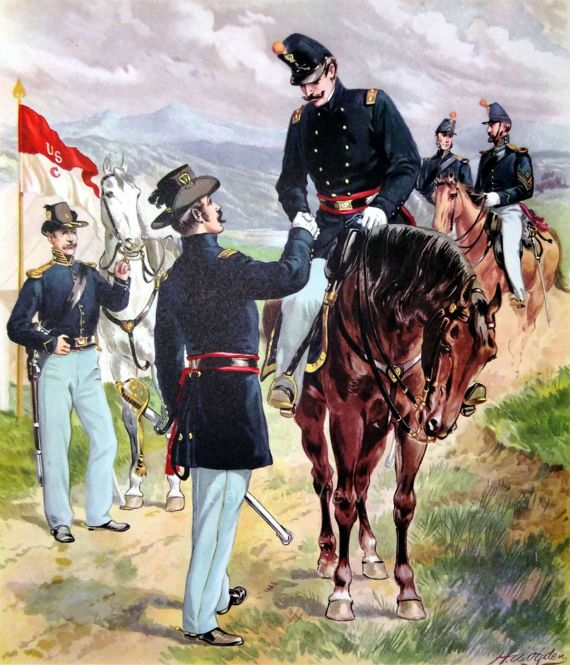 U S Army 1855 Cavalry Dragoons Uniforms By H A Ogden Horses Vintage 1959 12x16 Bookplate Art Print Free Ship Us Army Uniforms Cavalry Vintage Art Prints