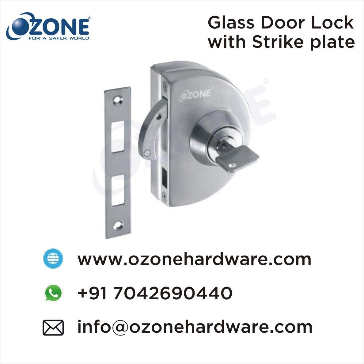Glass Door Lock With Strike Plate Glass Door Lock Glass Door Glass