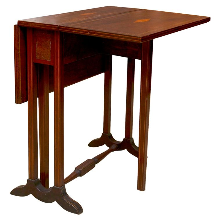 Mahogany Small Drop Leaf Side Table From A Unique Collection Of Antique And Modern