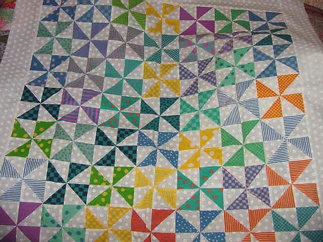 quilting ideas for beginners | child's Pinwheel quilt, made in ... : pinwheel quilt pattern free - Adamdwight.com