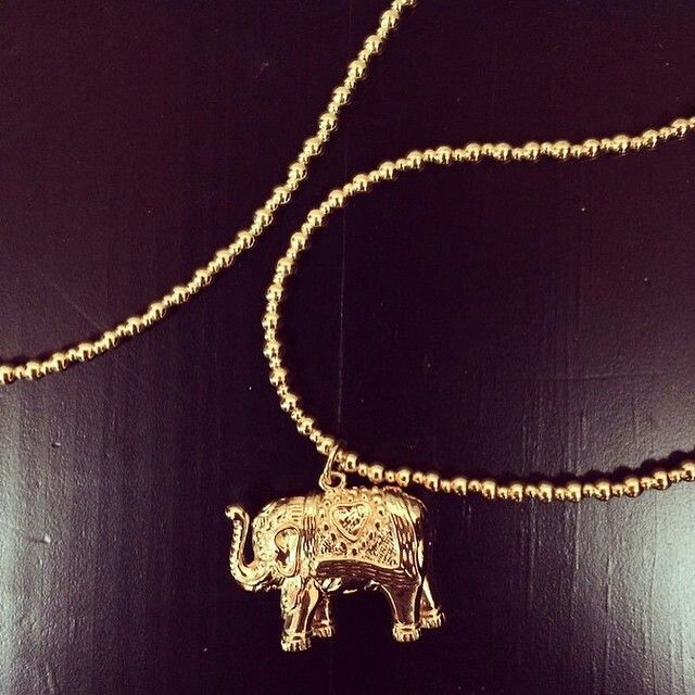 Charm necklace, elephant, wisdom