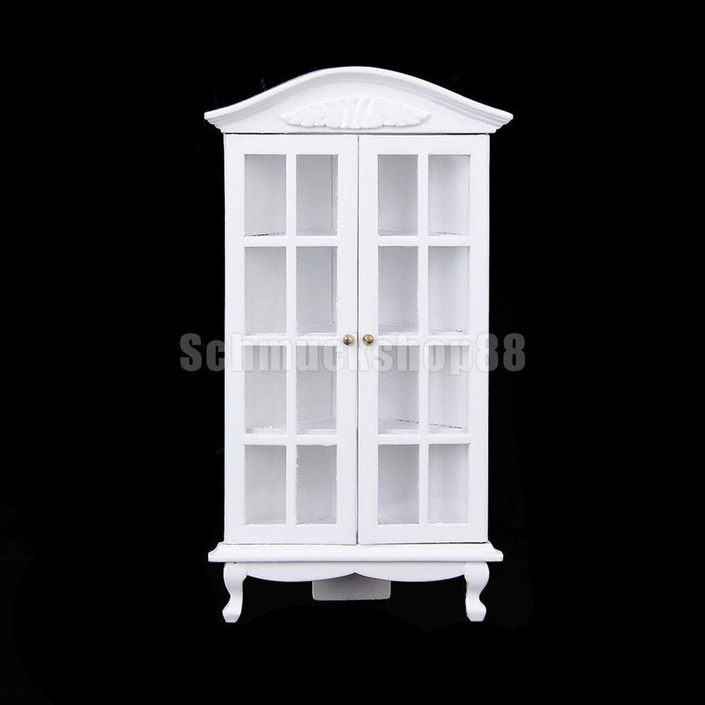 1:12 Puppenhaus Miniatur Ecke Schrank mit Tür-Weiß in Spielzeug ...
