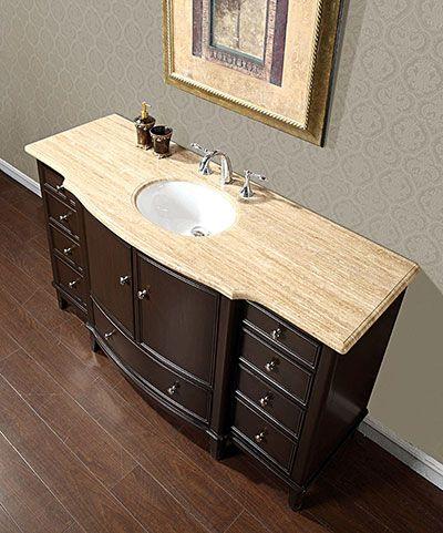 Accord Antique 60 Inch Floating Single Sink Bathroom Vanity