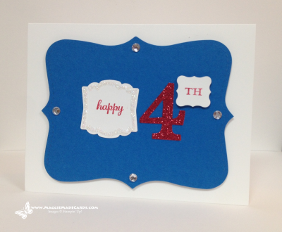 Happy Fourth of July #stampinup, #handmadecards, #papercrafts maggiemadecards.com