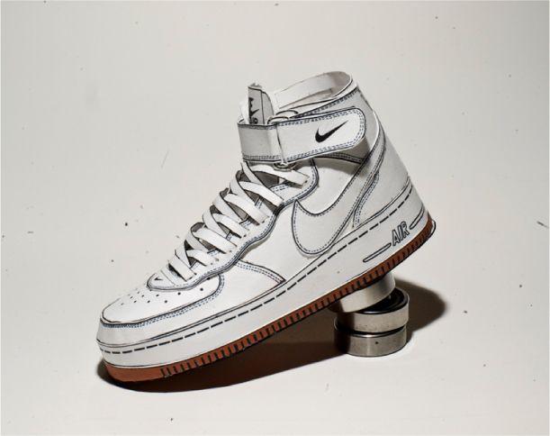 Nike Air Force 1 de Shin Tanaka | Paper-Toy.fr. Paper ShoesArt ...