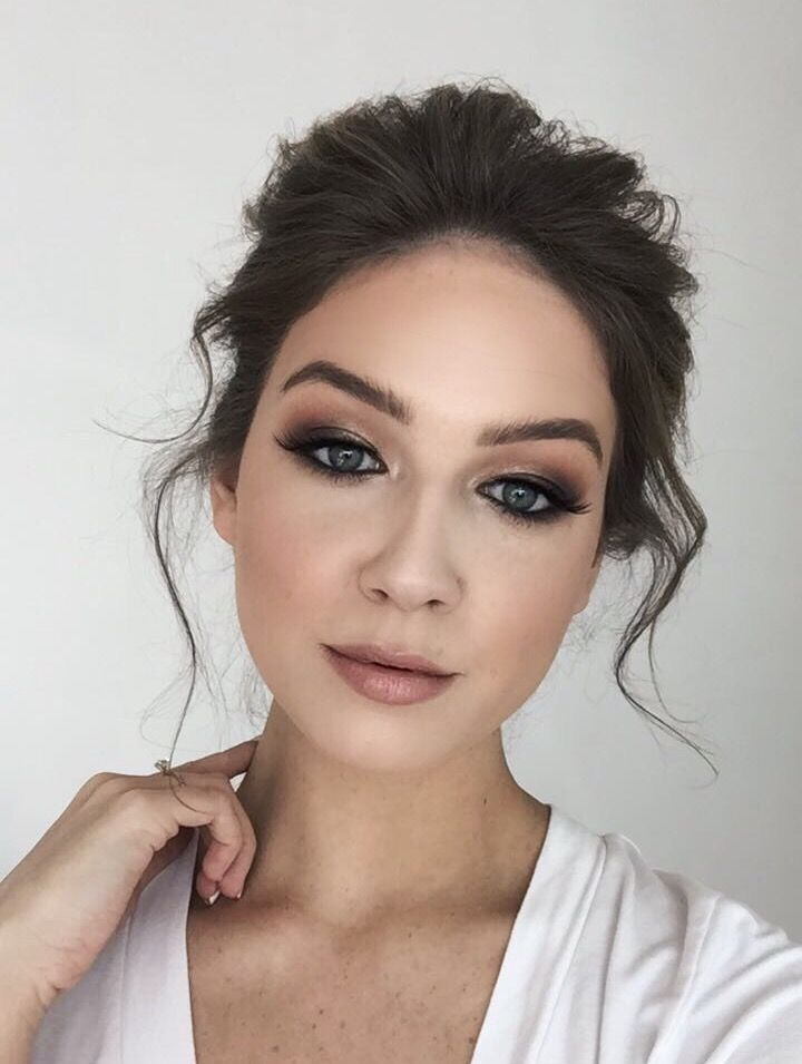 Photo of Elegant wedding hair and makeup