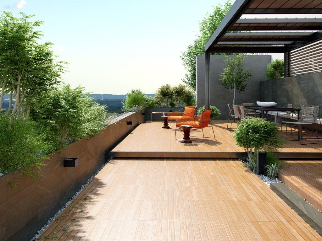 Imagen de pisos y azulejos deexteriores deck ring for Azulejos terrazas patios
