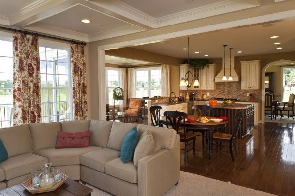 Living Room Kitchen Combos Family Room Kitchen Room Decorating