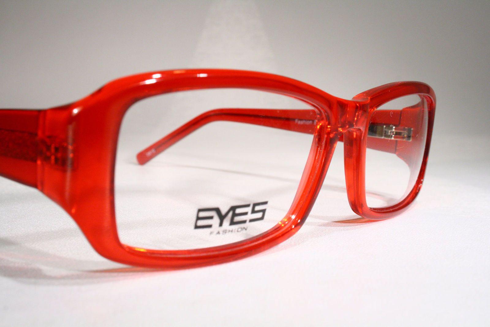 4541bc07b3c Women s FASHION EYES Clear Transparent Cherry Red Eyeglasses Optical Frames  Glasses Large   eBay (RipVanW)