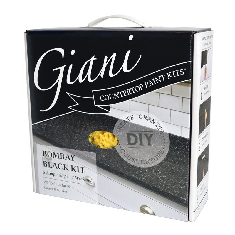 Giani Bombay Black Countertop Paint Kit Countertop Paint Kit
