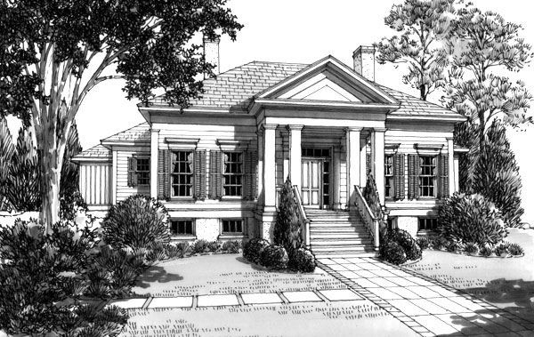 Southern charm pecan grove house plan by l mitchell for The pecan house