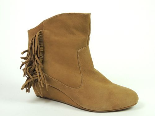 Falchi Women's MADISON Shoes Sand Wedge Warm Ankle Booties Size 8.5