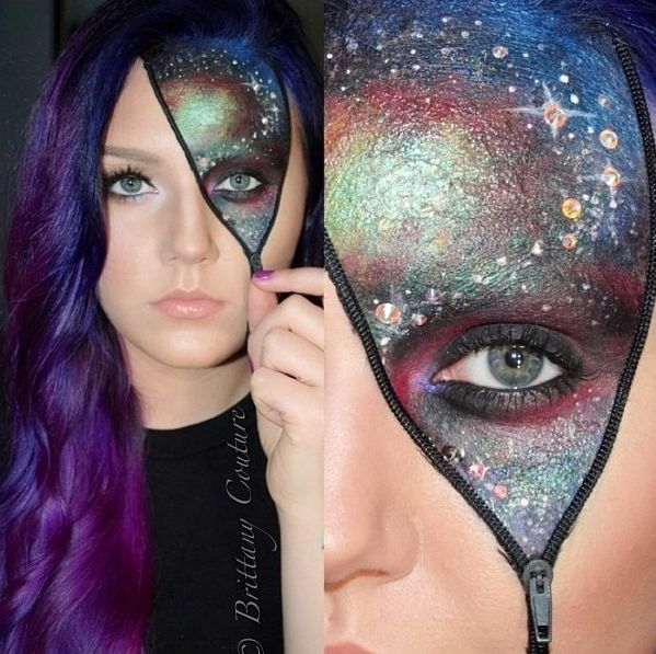 Galaxy Space Things Pinterest Halloween face and Costume make up - grown up halloween costume ideas