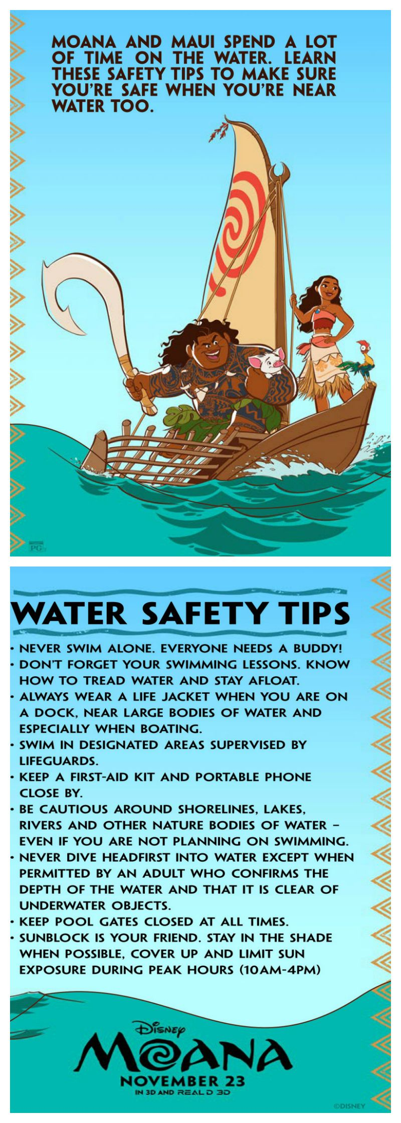 Disney Moana Water Safety Tips