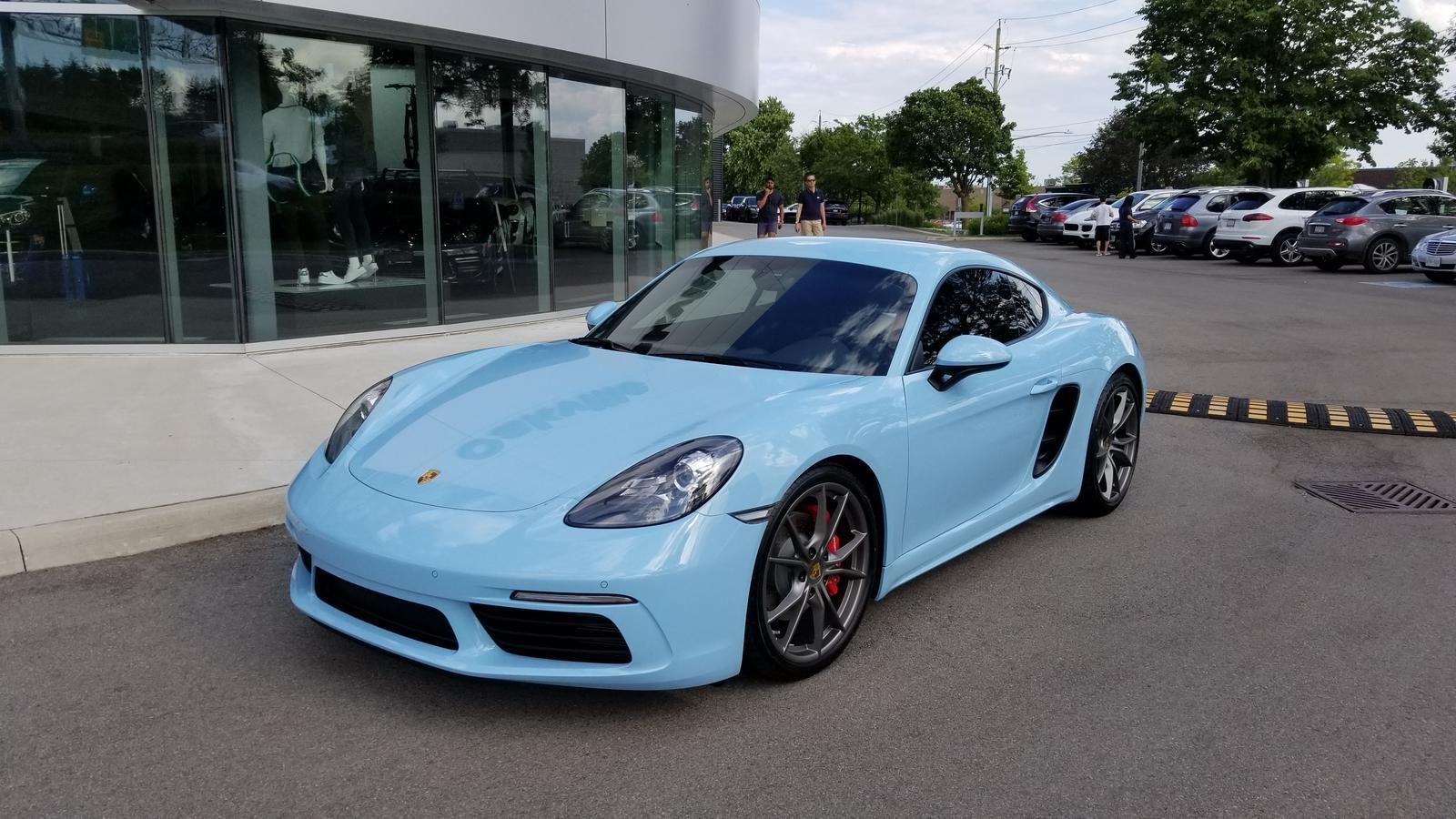 718 Cayman S In Pts Gulf Blue Rennlist Porsche Discussion Forums Cayman S Porsche Porsche Cayman S