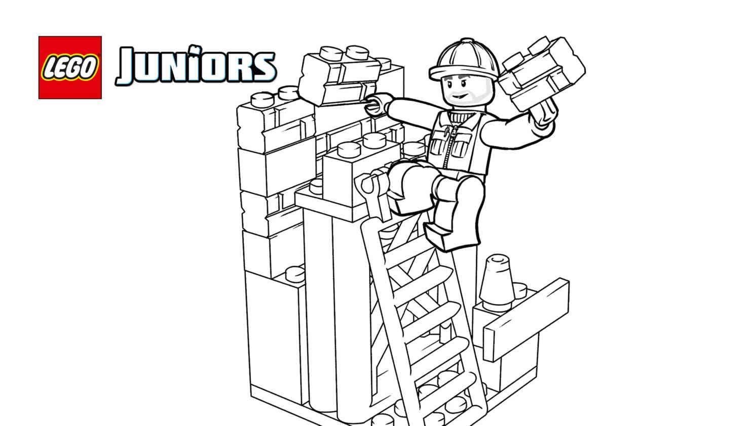 Lego 10667 Juniors Construction 5 Coloring Sheet Lego Coloring