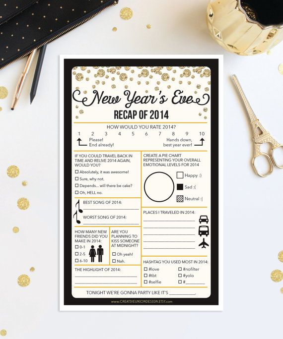Instant Download New Years Eve Recap Of By Creativeuniondesign