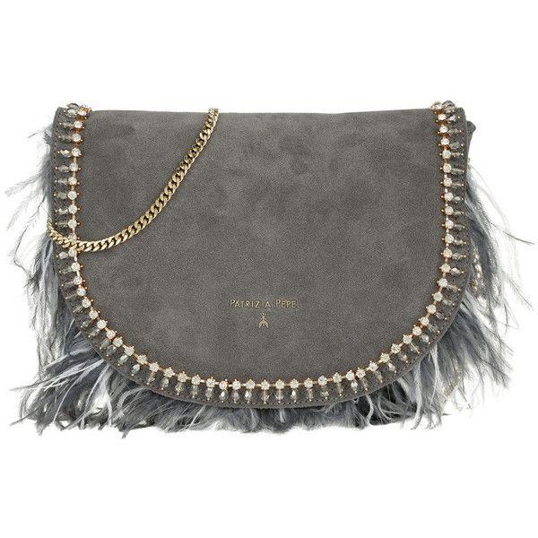 84dbfaa55c Patrizia Pepe Shoulder Bag - Crossbody Bag Feathers+Gemstones Suede... ($355