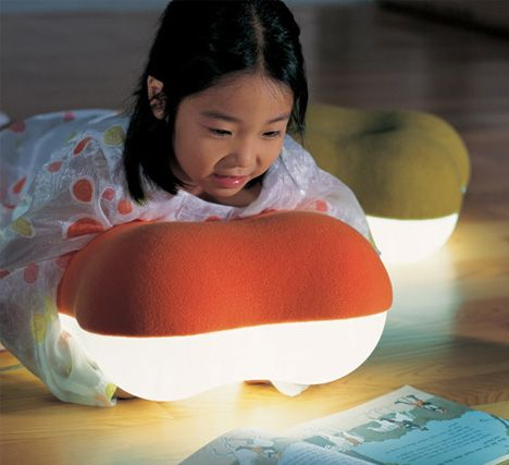 Soft Light Pillow Lamps Help Kids To Sneak A Read At Night