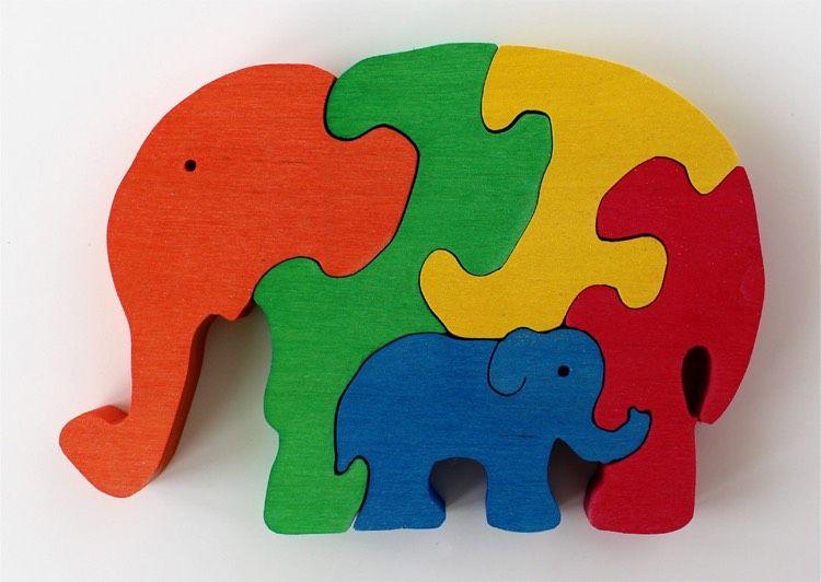 Dekupieren Vorlagen Download Kostenlos Tiere Elefanten Puzzle Holz