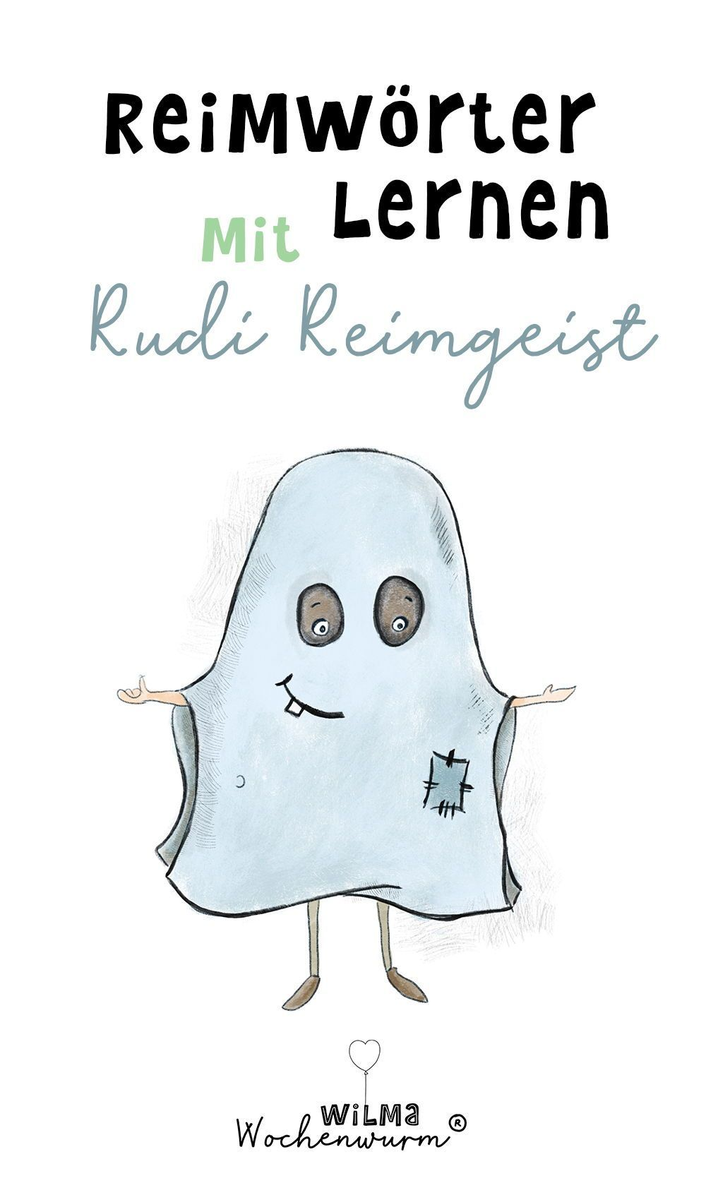 Reimwörter lernen mit Rudi Reimgeist für Kinder