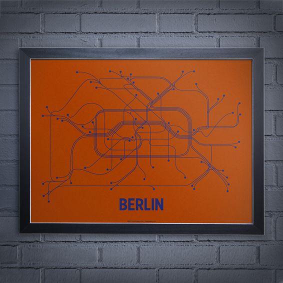 Berlin Screen Print By Line Posters Via Designcrushblog Com Wall Art Prints Printing