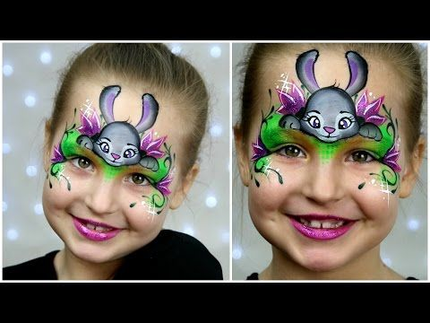 Zootopia Bunny Makeup for Kids Easter Face Painting Tutorial
