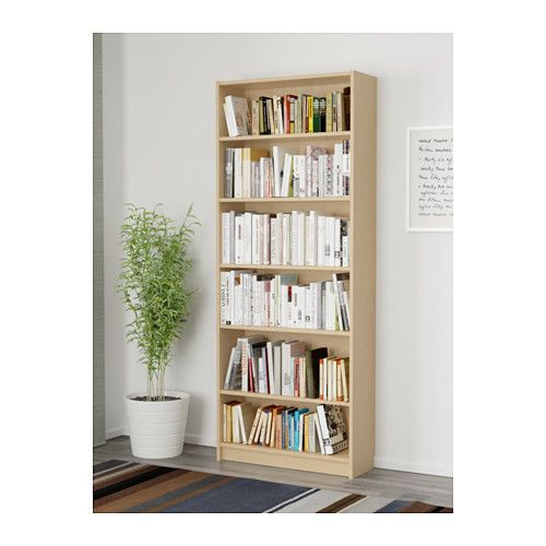 Billy Bokhylla Vit 80x28x202 Cm Ikea In 2020 White Bookcase Hemnes Bookcase Bookcase