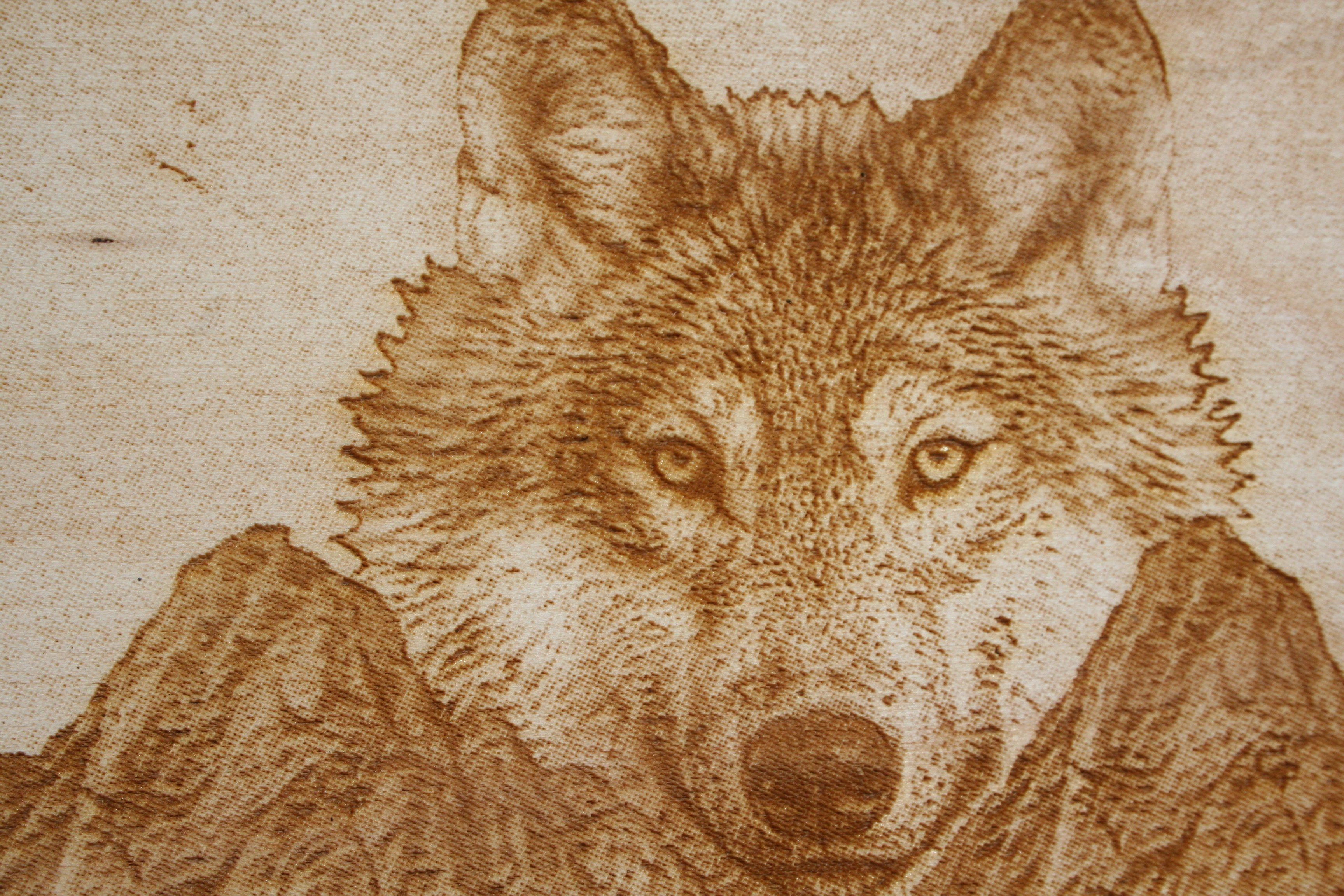 8e7ebb7aabb1e47d717720fabb70f748 - Wolf & Mountain Laser Engraved Wall Art - work-from-home