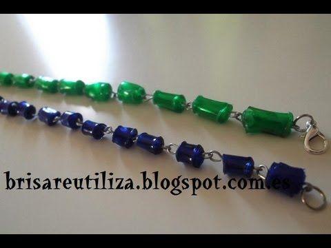 reciclaje de botellas de plastico cuentas de