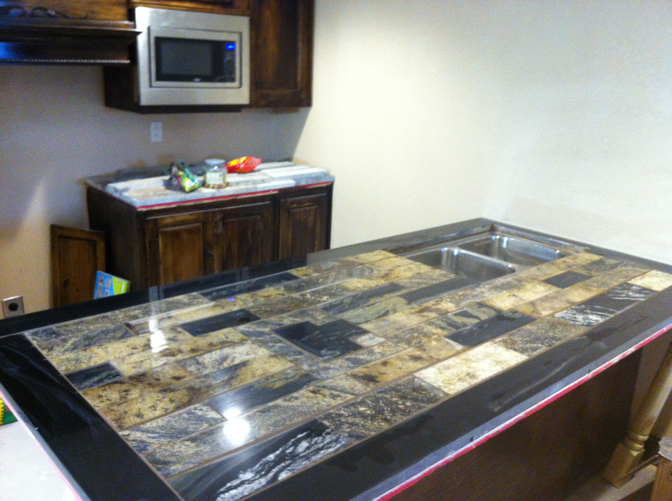 Granite Remnants: ReStore KC Customer Tony Cardello. I Used Remnant Trim  Pieces And Granite