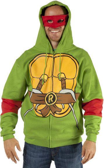 Teenage Mutant Ninja Turtles COSTUME HOODIE Boys TMNT Michelangelo HOODY Mikey