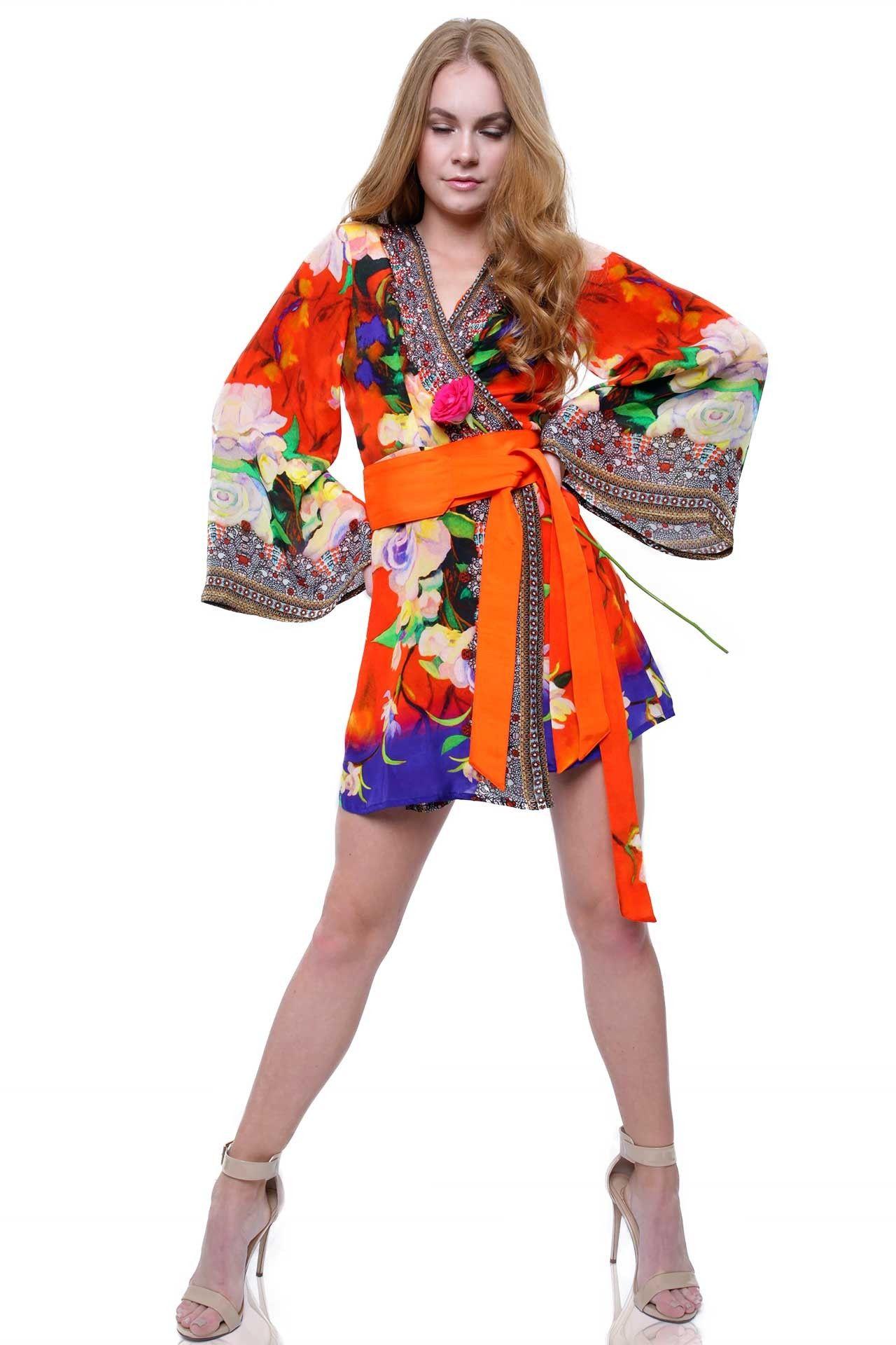 08669fb26af Designer Wrap Dress - Kimono Wrap Dress Farrah Britt   Shahida Parides -  Shahida Parides®