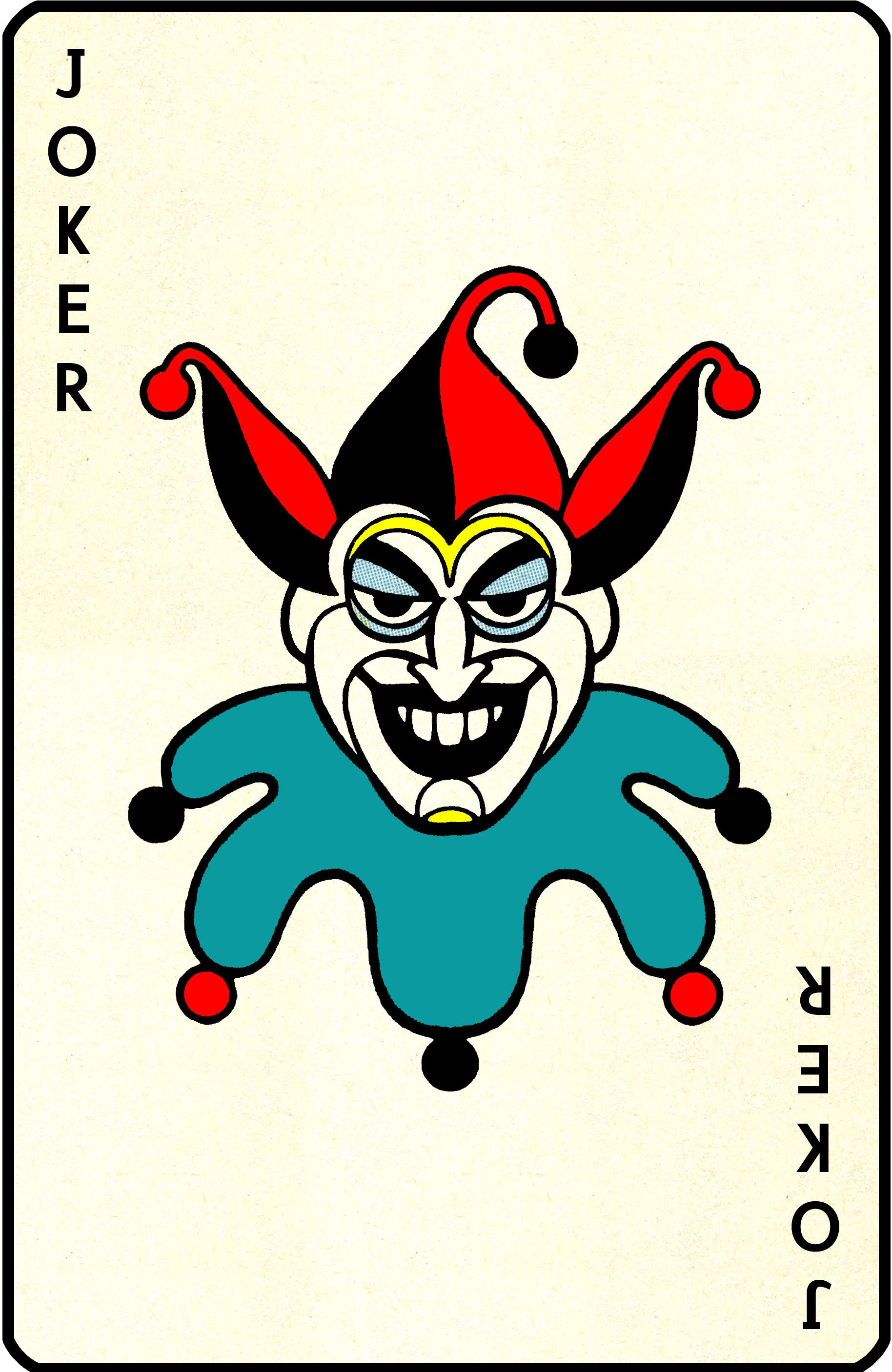 Retro Joker playing card DC Comics Pinterest Jokers