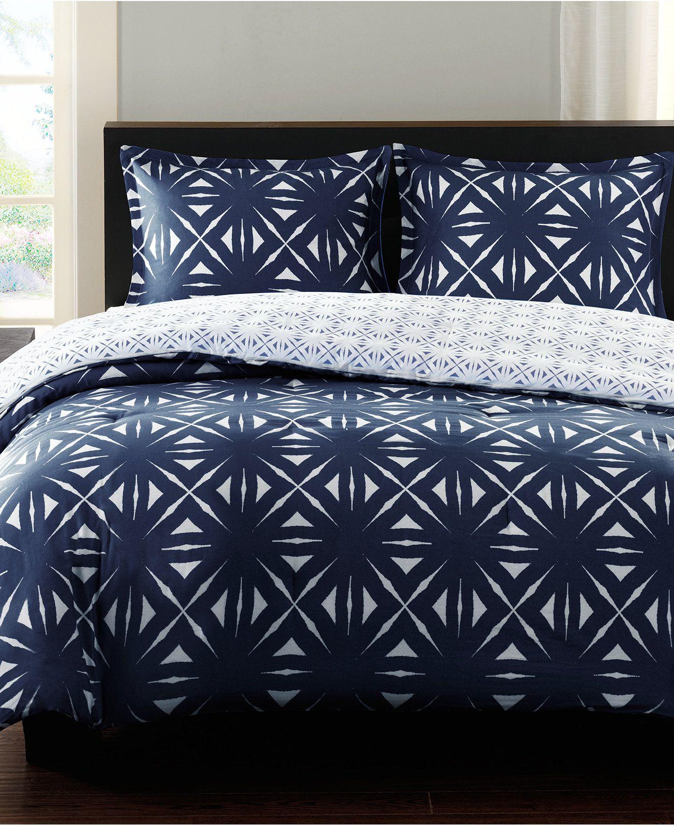 Echo Lattice Geo Colony Blue forter Mini Sets Bedding