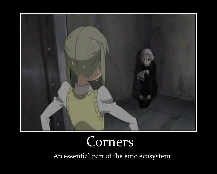 Corners by Girl--Gaara.deviantart.com on @deviantART HEYHEYHEY EMO'S LIKE CORNERS SO WHAT