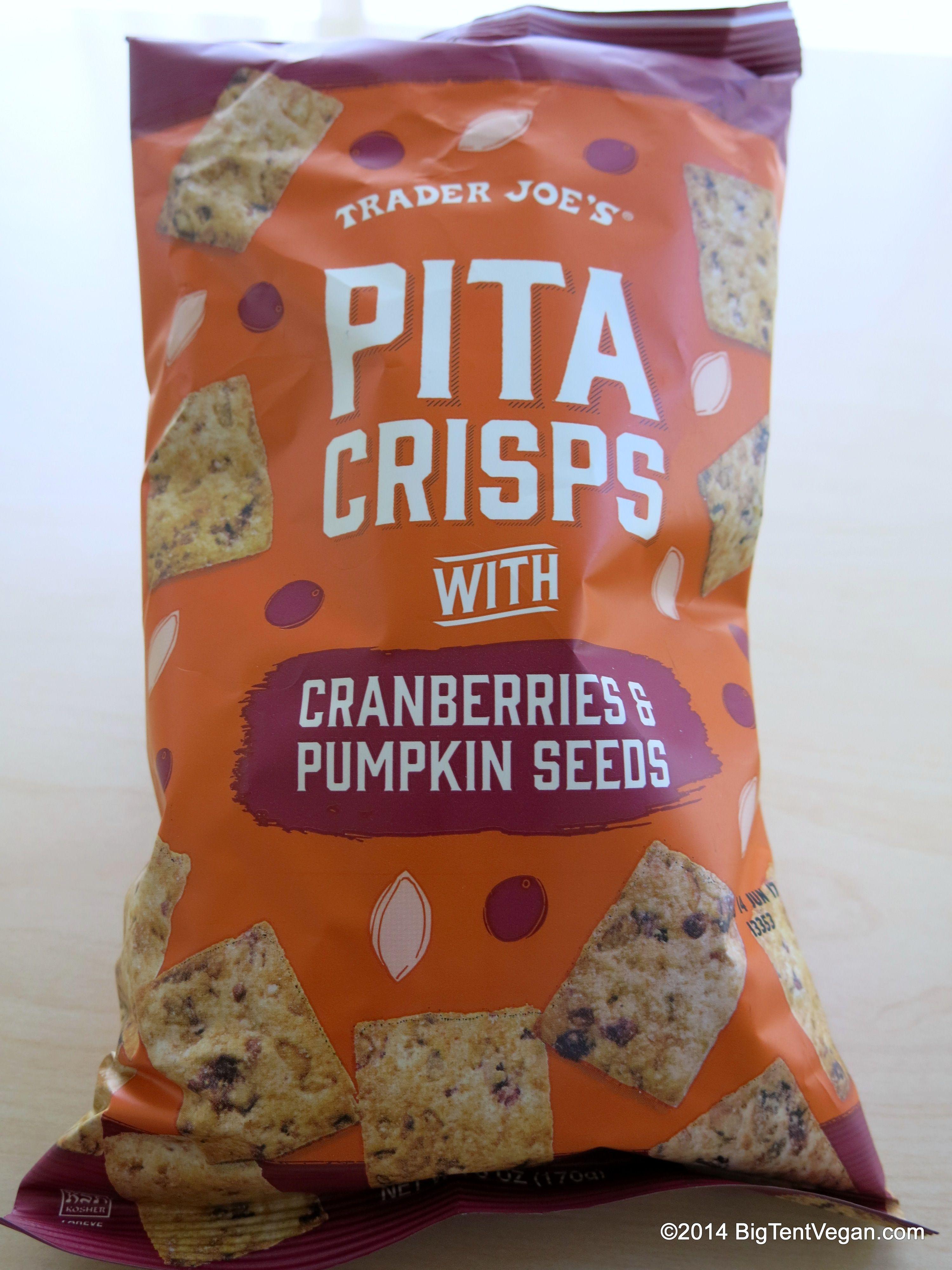 Pita Crisps with Cranberries & Pumpkin Seeds