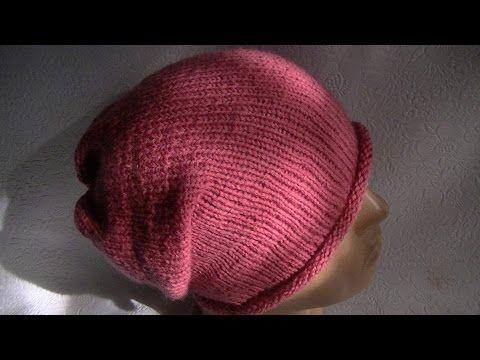 вязание шапки бини на круговых спицах Youtube бизнес Knitted