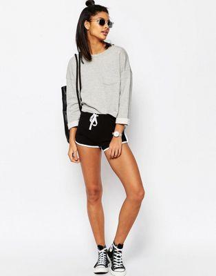 Pantalones cortos de corredor básicos con ribetes en contraste de ASOS