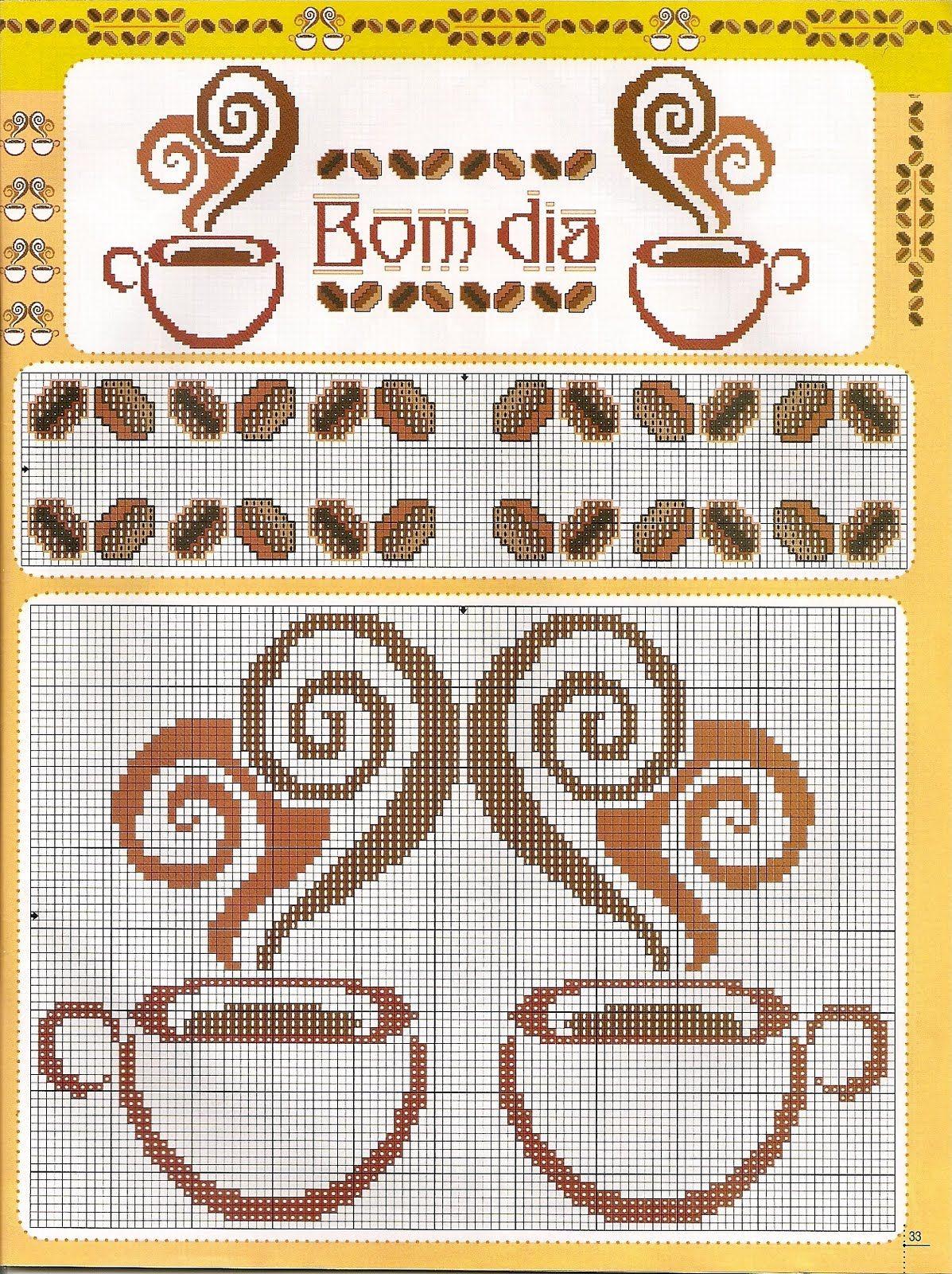 Tazas De Cafe Ponto De Cruz Pinterest Ponto Cruz Cruz E  ~ Ponto Cruz Cozinha Moderna