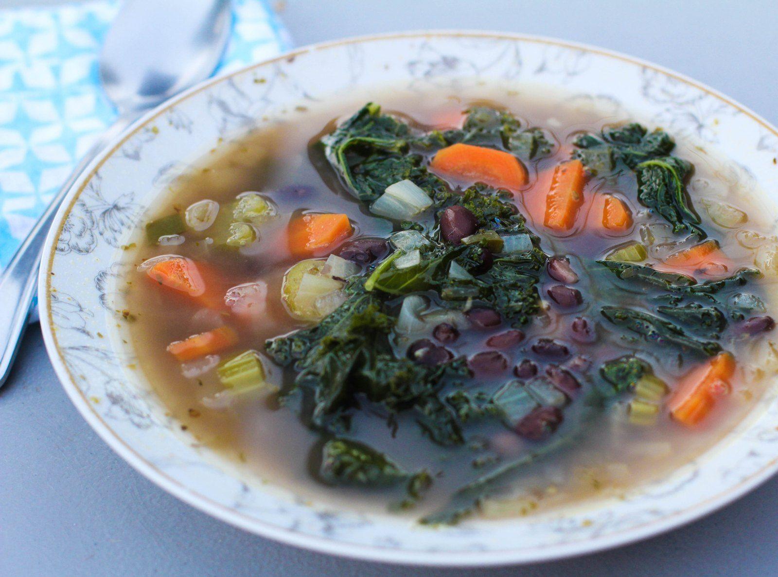 Black Bean + Kale Soup