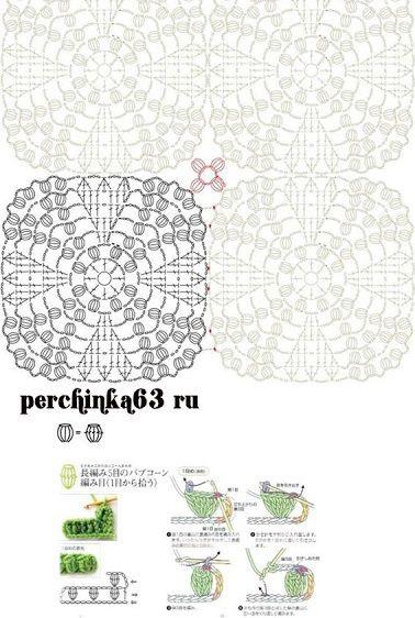 Vintage wedding ring motif crochet free pattern Crochet Free