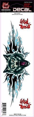 Pit Bull Attack LT00406  Lethal Threat Decal