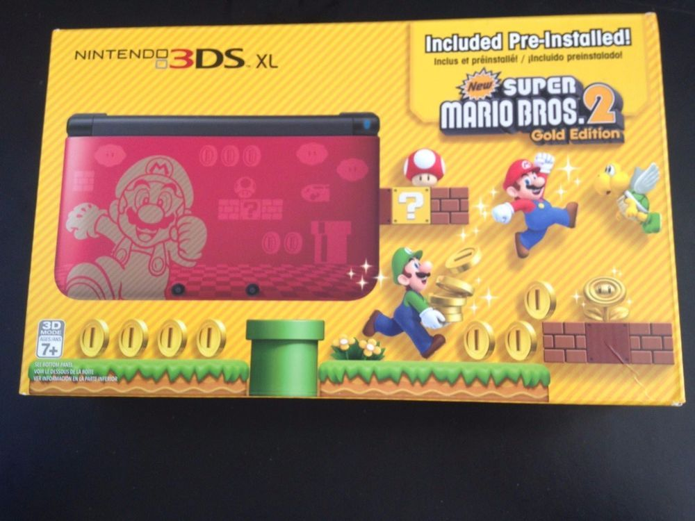 Nintendo 3ds Xl New Super Mario Bros 2 Gold Limited Edition