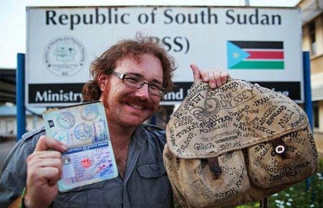 Viajó a todos los países del mundo con sólo.. US$100 por semana. La innovación y valentia a un nivel inigualable.