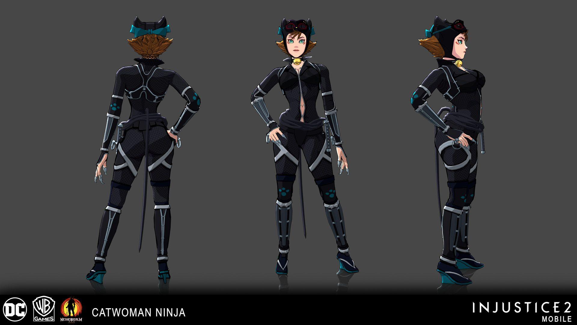Artstation Injustice 2 Mobile Catwoman Ninja Nick Cashio Catwoman Cosplay Cat Woman Costume Catwoman